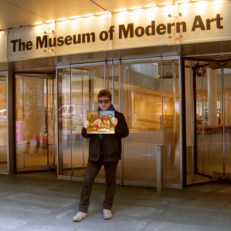 exhibiting at the moma entrance