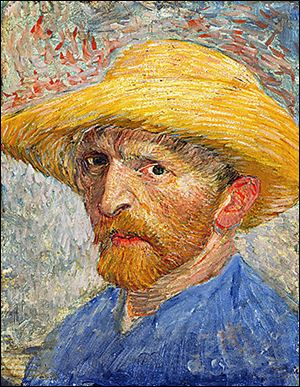 self portrait of Vincent van Gogh au Detroit Institute of Art